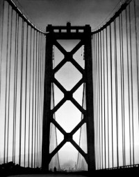 Bay Bridge Tower (towards city), from California and the West, 1936