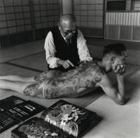 Tattooing Back of Tokyo Yakazu, Japan, 1946