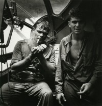 Rescued Airman Smoking Aboard PBY, 1944
