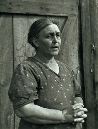 Horace Bristol - (Portrait of Woman in Front of Cabin) Ma Joad, 1938