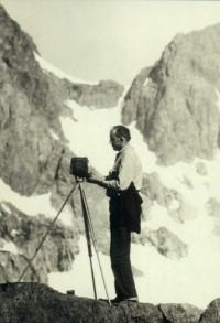 Rondal Partridge - Ansel Adams in the Sierra, 1937