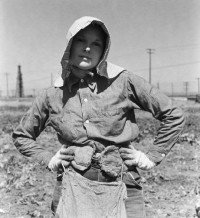 Rondal Partridge - Potato Field Madonna, Kern County, California, 1940