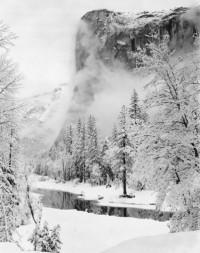El Capitan Winter Yosemite Valley CA, circa 1948