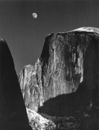 Moon and Half Dome Yosemite National Park, CA 1960