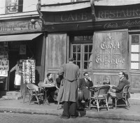 Benjamin Chinn - Sidewalk Café, Paris, France, 1949