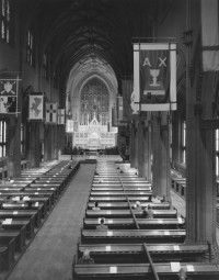 Bernice Abbott – Interior of Trinity Church, 1940's