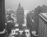 Bernice Abbott – Wall Street in Snow, 1950's