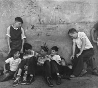 John Gutmann – Street Boys with Graffitti, San Francisco, circa 1938
