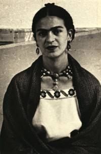 Close Up of Frida Kahlo, New Worker's School, NY 1933
