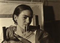 Frida Biting her Necklace, New Worker's School, NY 1933