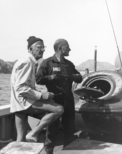Portrait with Jacques Cousteau