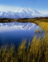 Mt. Denali, Reflection Pond, Denali N. P., Alaska , 1971