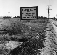 Dorothea Lange, Real Estate Sign, Riverside County, CA, March 1937