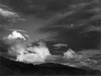 Ansel Adams, Moon In Clouds, Kern Basin, Sierra Nevada, circa 1938