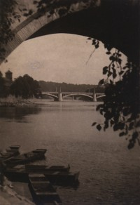 Josef Saudek, Bridge, Prague, Czechoslovakia, circa 1913