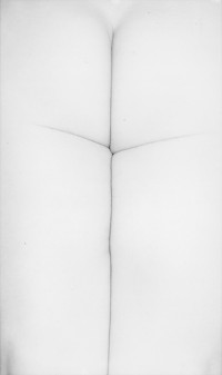Harry Callahan, Eleanor, Chicago (cross), 1947