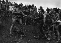 Sebastiao Salgado, Military Police Patrolling the Gold Mine of Serra Pelada, 1986