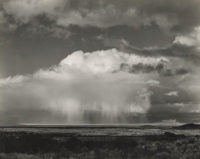 Edward Weston, Rain Over Modoc Lava Beds, 1937