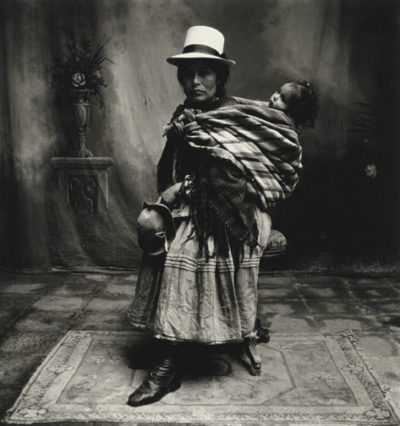 Irving Penn, Cuzco Mother (Woman) with High Shoes, 1948