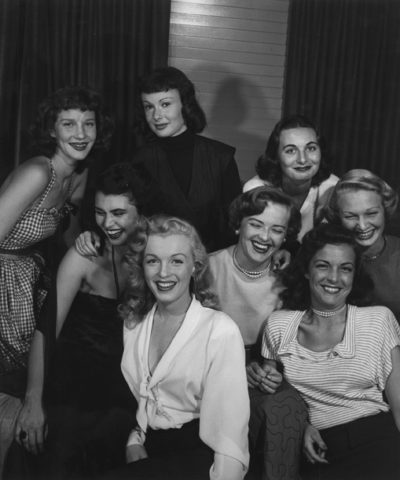 Philippe Halsman, Group of Starlets and Marilyn Monroe, 1949