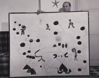 Sanford Roth, Joan Miro with Painting