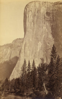 Isaiah W. Taber, attributed to Carleton Watkins, El Capitan, 3300 ft., Yosemite, California, c. 1880