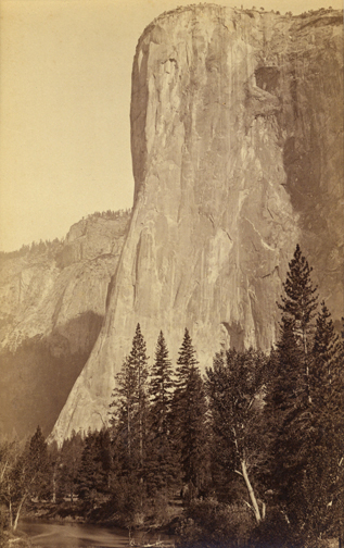 Isaiah W. Taber, attributed to Carleton Watkins, El Capitan, 3300 ft., Yosemite, California, c. 1880