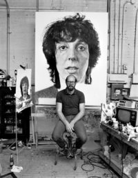 Kurt Fishback, Chuck Close, 1982