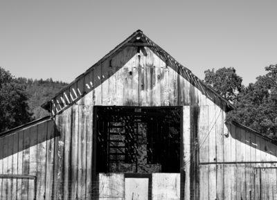 Jim Banks, Empty Barn, Napa Valley, California, 2019