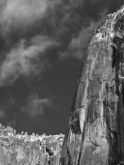 Cliff Face, Winter, Yosemite, 2018