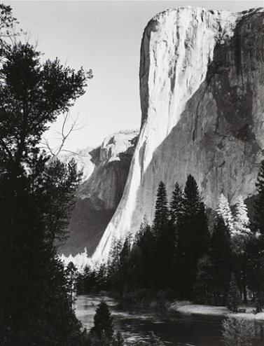 """Ansel Adams, El Capitan, Sunrise, 1927, printed 1959, 10"""" x 8"""""""