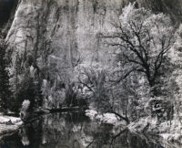 "Ansel Adams, Merced River, Cliffs, Autumn, Yosemite Valley, 1939, printed 1959, 8"" x 10"""