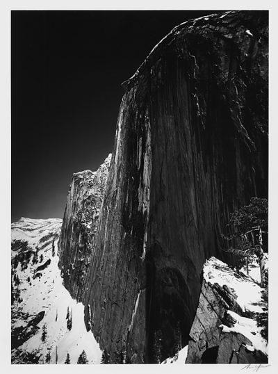 """Ansel Adams, Monolith, The Face of Half-Dome, 1927, printed 1959, 14"""" x 11"""""""