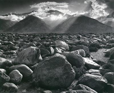 "Ansel Adams, Mt. Williamson, Sierra Nevada, from Manzanar, California, 1944, printed early 1950s, 16"" x 20"""