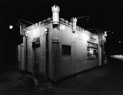 """George Tice, White Castle, Route #1, Rahway, New Jersey, 1973, Gelatin Silver Print, 8"""" x 10"""""""