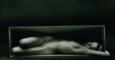 "Ruth Bernhard, In The Box, Horizontal, 1962, Gelatin Silver Print, 7-1/2"" x 13-1/2"""