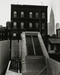 "Brett Weston, Skylight, Midtown (Nancy Newhall's Sundeck), 1947, 10"" x 8"""