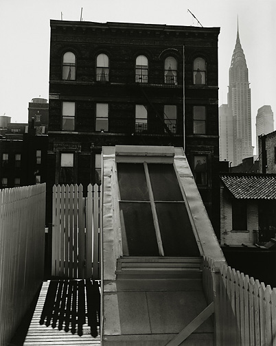 "Brett Weston, Skylight, Midtown (Nancy Newhall's Sundeck), 1947, 10"" x 8"""