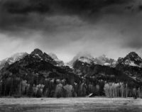 "Alan Ross, Cabin, Grand Tetons, Wyoming, 1975, 10"" x 7-7/8"""