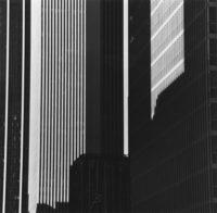 "Brett Weston, Time Life Building, 1980, Gelatin silver print, 10-1/2"" x 10-5/8"""