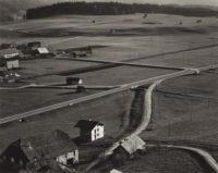 "Brett Weston, Farm Landscape, Austria, 1973, Gelatin silver print, 7-1/2"" x 9-1/2"""