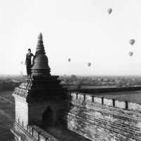 "Monica Denevan, Observance, Burma, 2011, 15"" x 15"" and 30"" x 30"""