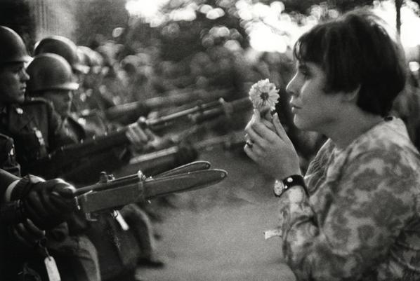 Marc Riboud, Peace March, Washington DC, 1967