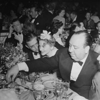 Peter Stackpole, Alfred Hitchock at the Oscars, with David O. Selznick and Joan Fontaine, c1941
