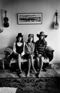 Joan Baez, Mimi Farina, and Pauline Marden, 1968