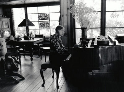 Joni Mitchell at her Laurel Canyon Home, 1969