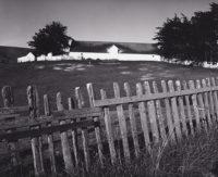 Ansel Adams, Barn, Fence, Tomales Bay, California, c1964