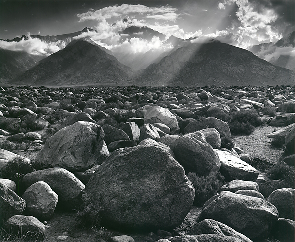 Ansel Adams, Mount Williamson Sierra Nevada from Manzanar, California 1944