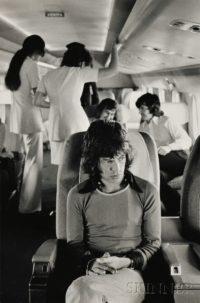 Mick Jagger on Airplane, 197