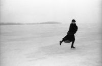 Joel Bernstein, Joni Mitchel Skating on Lake Mendota, Madison, WI, March 1976